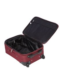 Brixham burgundy 2 wheel cabin suitcase