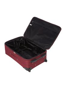 Linea Brixham burgundy 2 wheel medium suitcase
