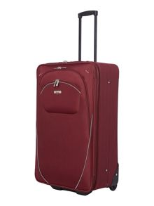 Brixham burgundy 2 wheel large suitcase
