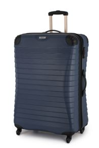 Linea Shell denim 4 wheel hard large suitcase