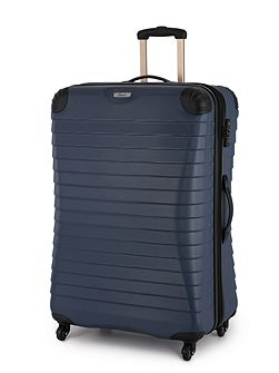 Shell denim 4 wheel hard large suitcase