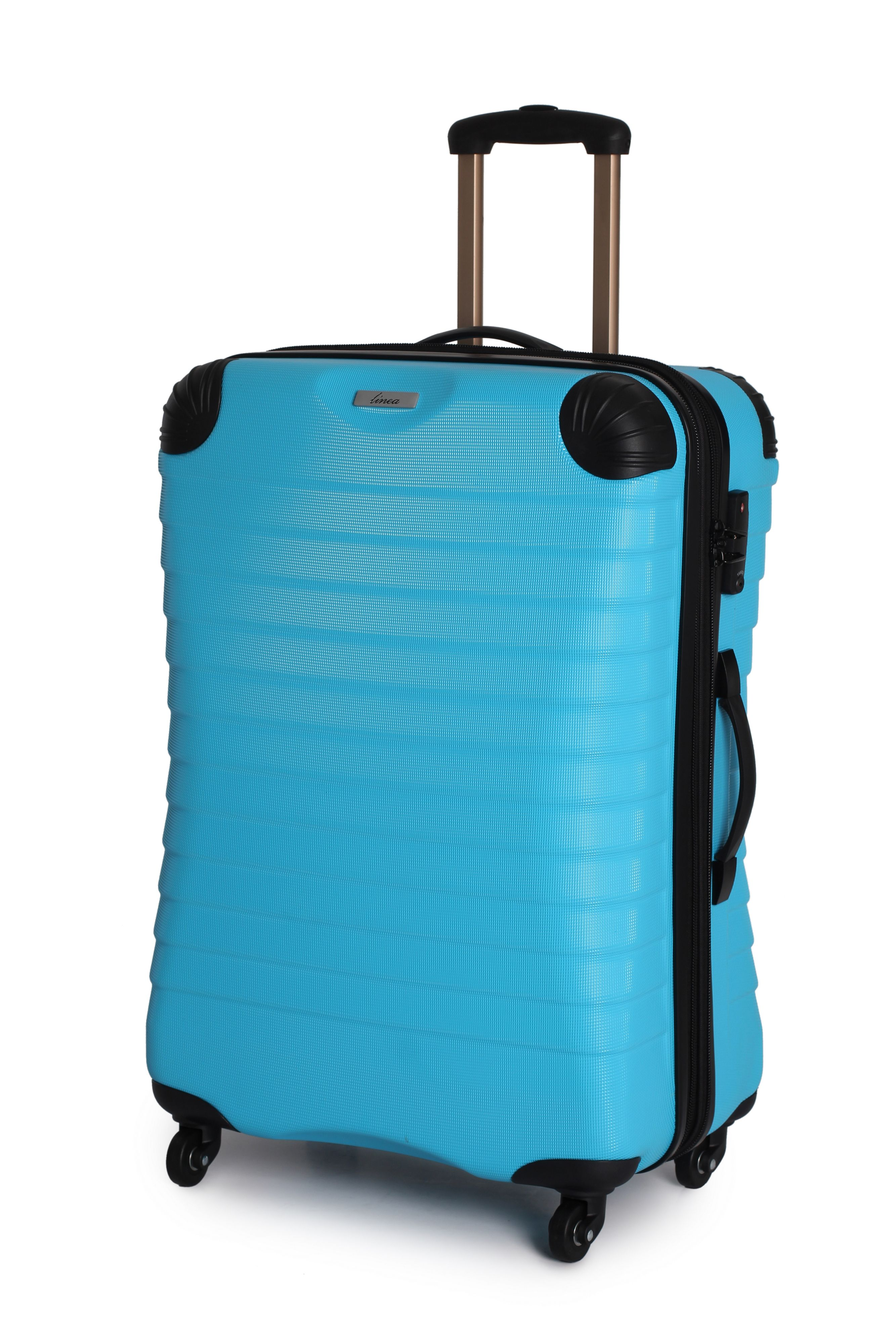Linea Shell aqua 4 wheel hard medium case Aqua