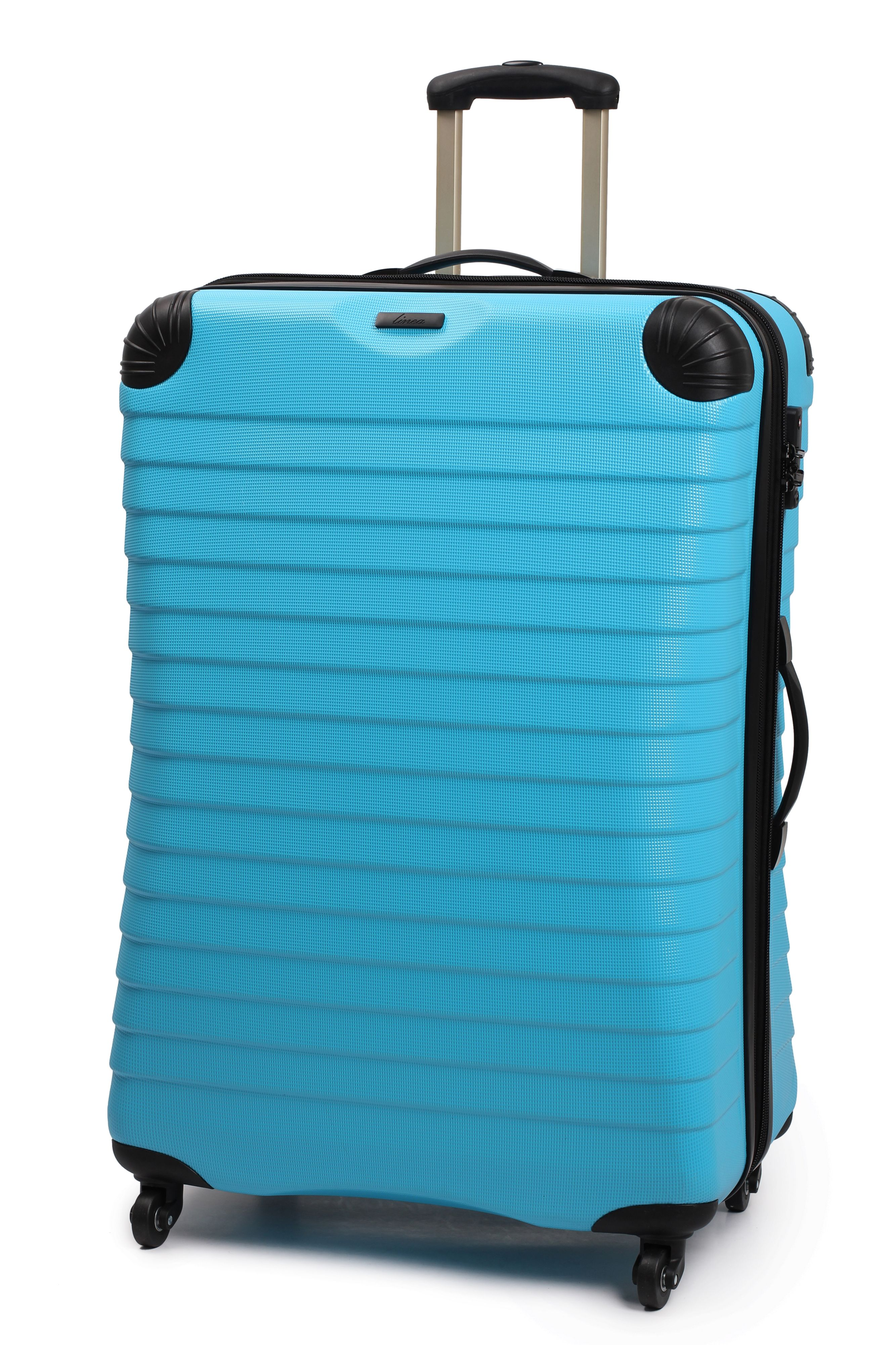 Linea Shell aqua 4 wheel hard large case Aqua