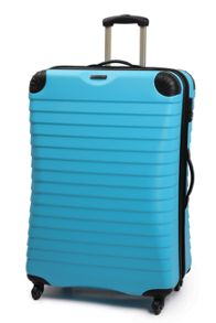 Linea Shell aqua 4 wheel hard large case