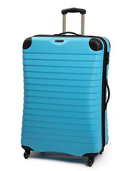 Shell aqua 4 wheel hard large case