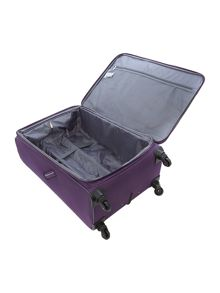 Linea Hyperlite purple 4 wheel soft large suitcase