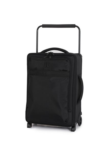 Linea Black 2 wheel soft cabin suitcase