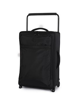 Black 2 wheel soft medium suitcase