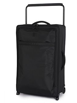 Black 2 wheel soft large suitcase
