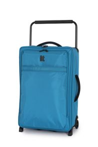 Blue 2 wheel soft medium suitcase