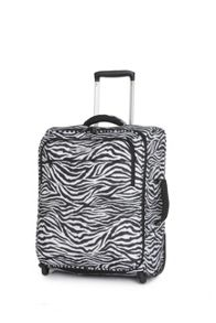 Ultra lite zebra 2 wheel soft cabin suitcase