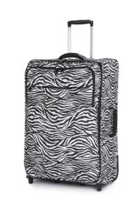 Ultra lite zebra 2 wheel soft medium suitcase
