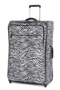 Ultra lite zebra 2 wheel soft large suitcase
