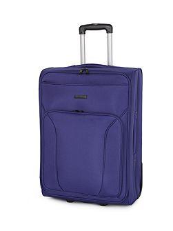 Linea Mila blue 2 wheel soft medium suitcase