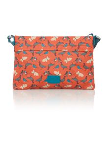 A little bird orange small ziptop crossbosy bag
