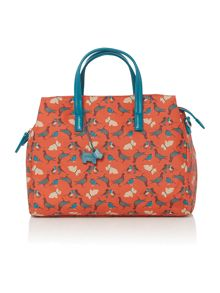 A little bird orange medium ziptop crossbosy bag