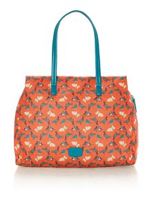 A little bird orange large ziptop crossbosy bag