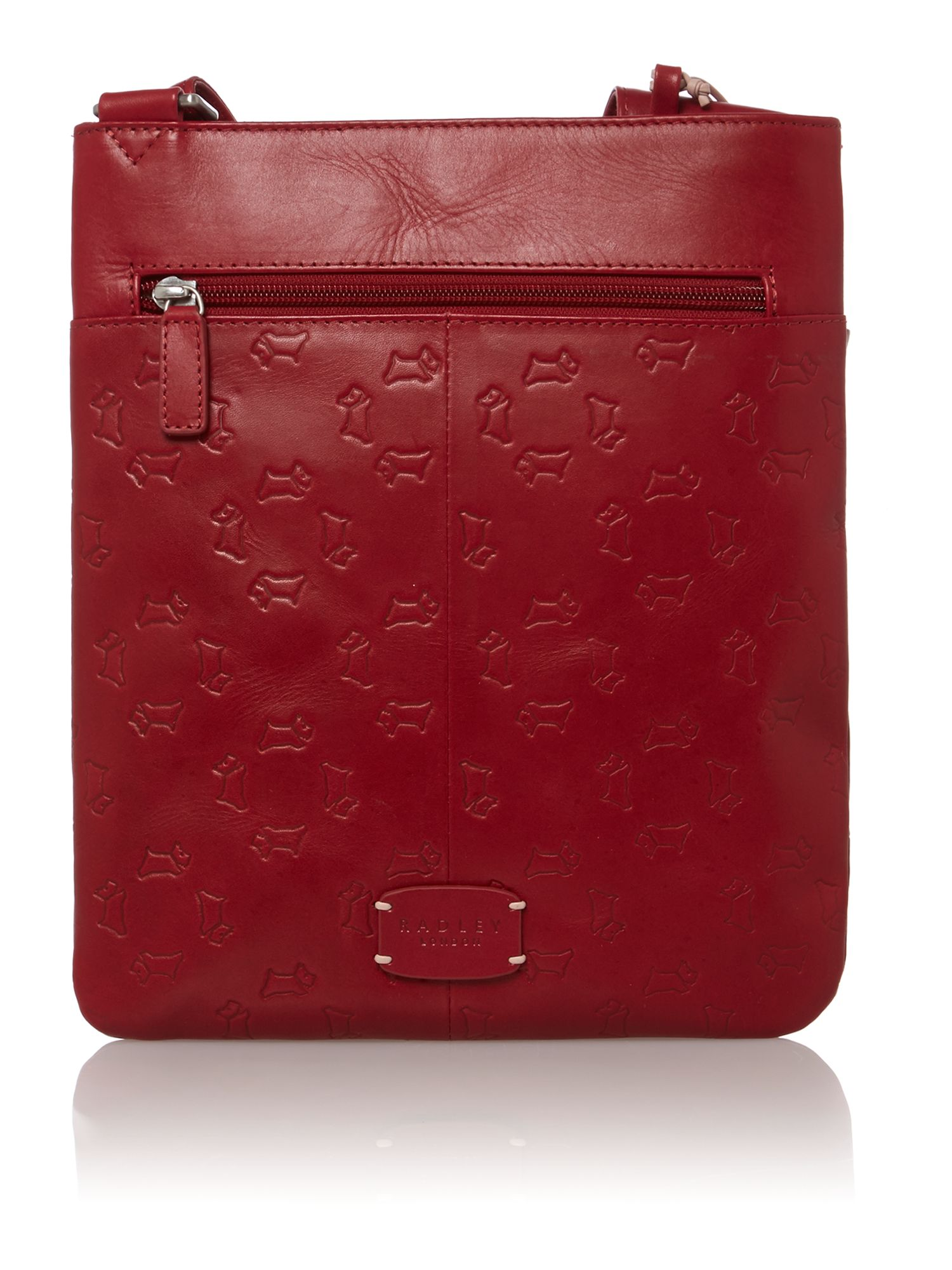 Abbey road red medium ziptop xbody leather bag