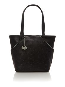 Abbey road black medium z/top ew leather tote bag