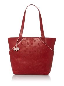 Abbey road red medium z/top ew leather tote bag