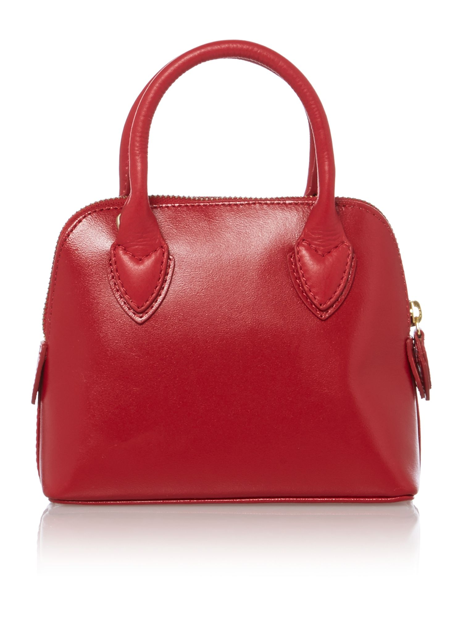 Aldgate red mini ziptop leather xbody bag