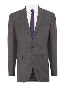 Sharkskin slim fit suit
