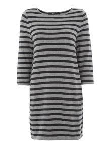 Pullover striped tunic