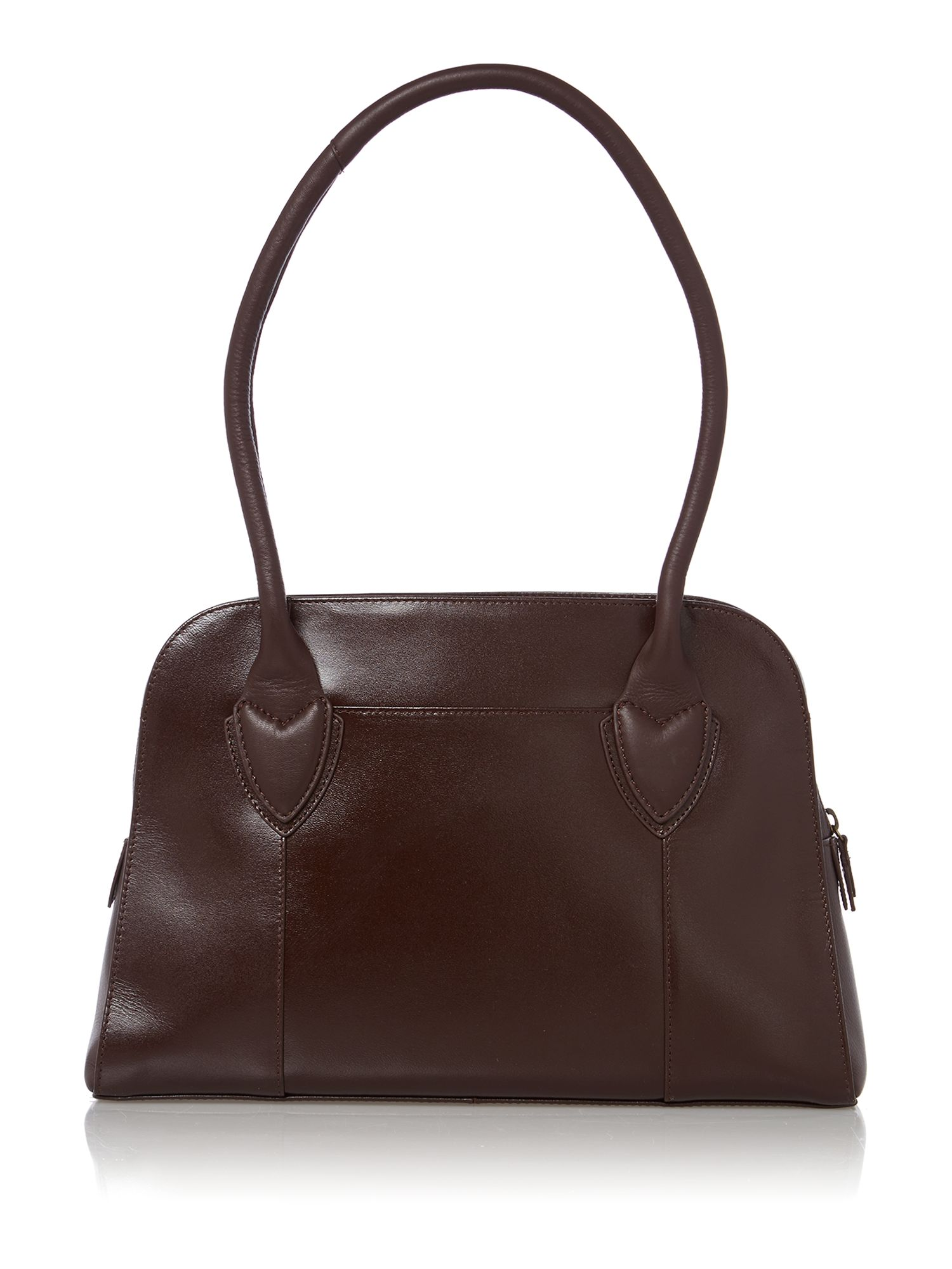Aldgate purple medium leather shoulder bag