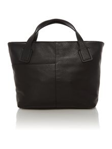 Battersea black medium ziptop xbody leather bag