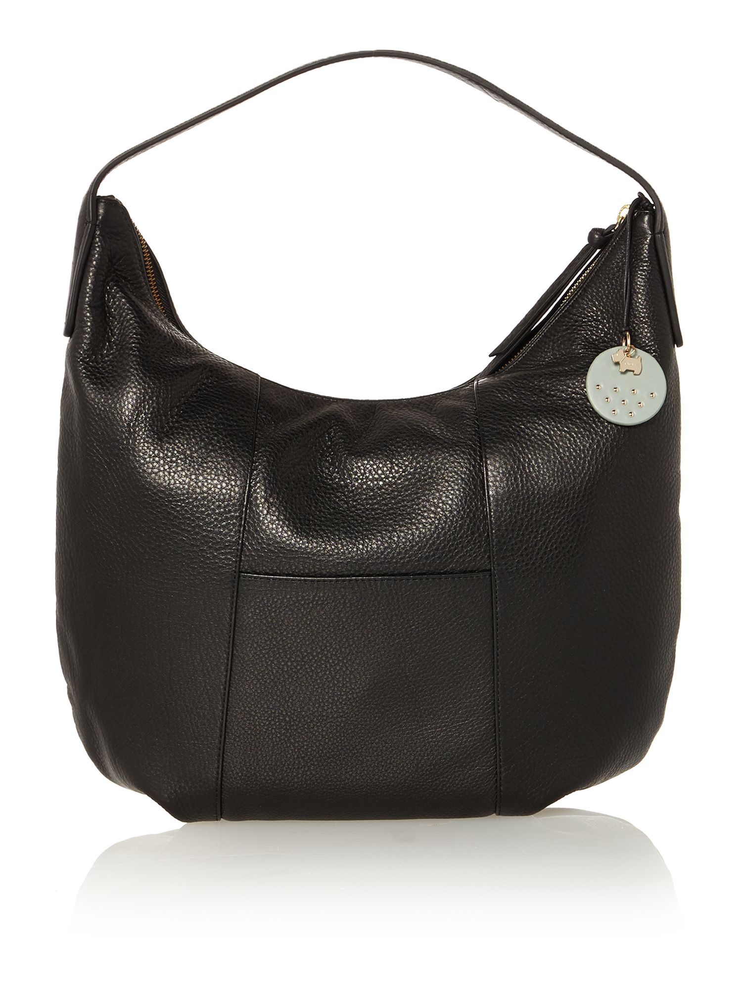 Battersea black large hobo leather bag