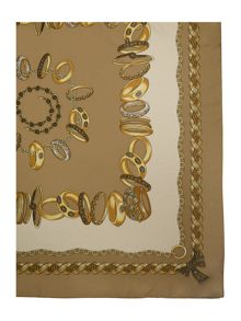Gold rings square scarf