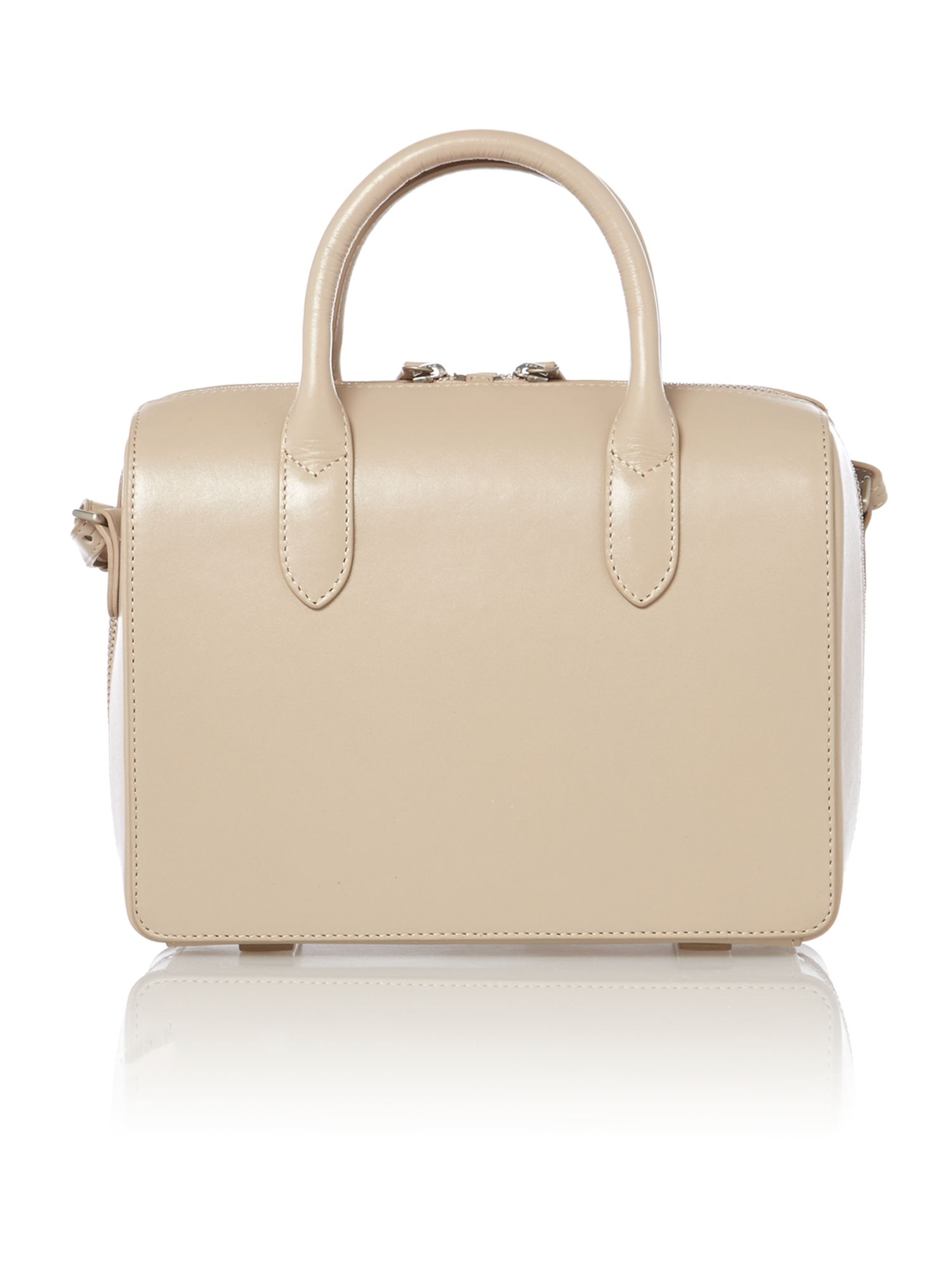 Bloomsbury small neutal round ew tote leather bag