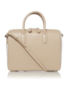Bloomsbury med neutral round ew tote leather bag