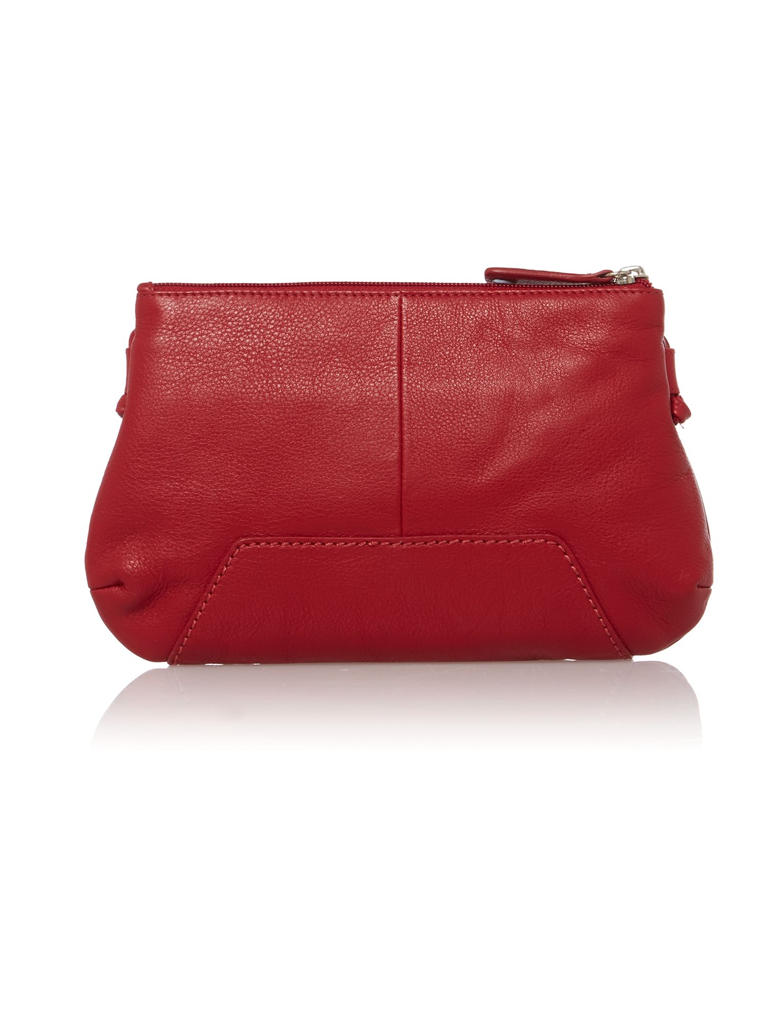 Finsbury small red ziptop xbody leather bag