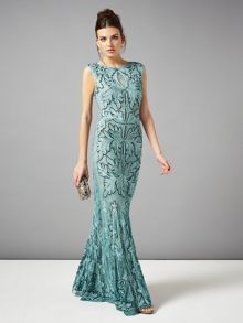 Paige tapework full length dress