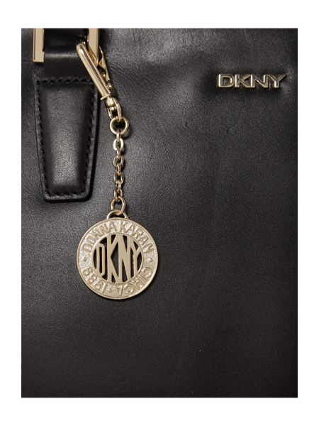 DKNY Greenwich black large double zip tote bag