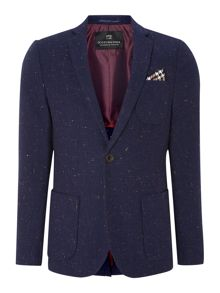 Woolen tweed blazer with pop lining, Sold with po
