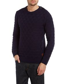 Cable knitted crewneck pull in monsanto quality