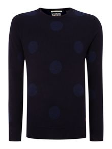 Intrasia knitted crewneck pull