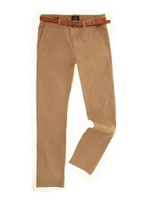 Slim fit cotton/elastan garment dyed chino pant,