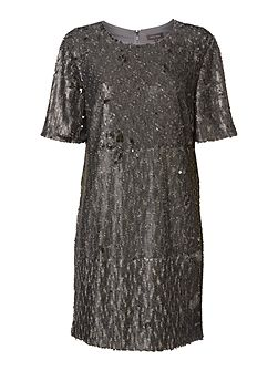 Rachel Sequin Tee Dress