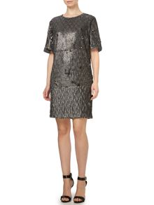 Pied a Terre Rachel Sequin Tee Dress