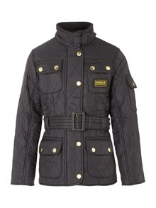 Barbour Girls International fleece lined jacket with belt