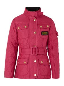 Girls International fleece lined jacket with belt