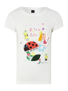 Girls Ben & Holly removable sticker t-shirt