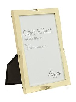 Gold Effect Twist Design Photo Frame 5x7