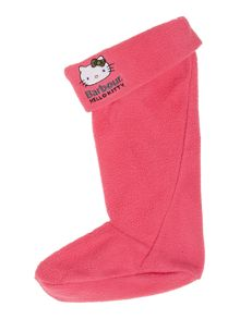 Girls Hello Kitty fleece welly liners