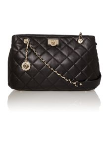 Gansevoort black medium quilted chain tote bag
