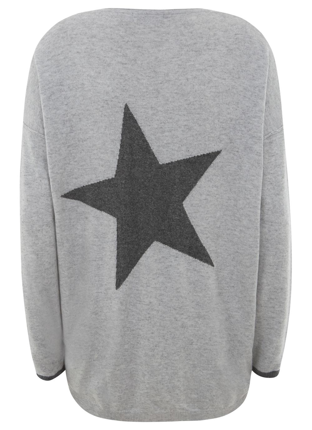 Silver & Granite Star Knit
