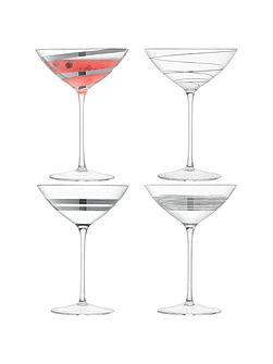 Gatsby Cocktail Glass 150ml Asstd Platinum x 4